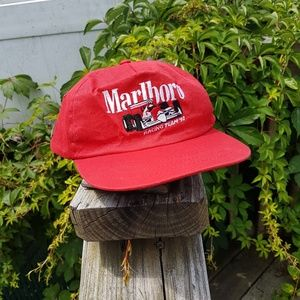 0726c61caa4db Marlboro Accessories - Vintage 90s Marlboro Cigarettes Racing Dad Hat Red